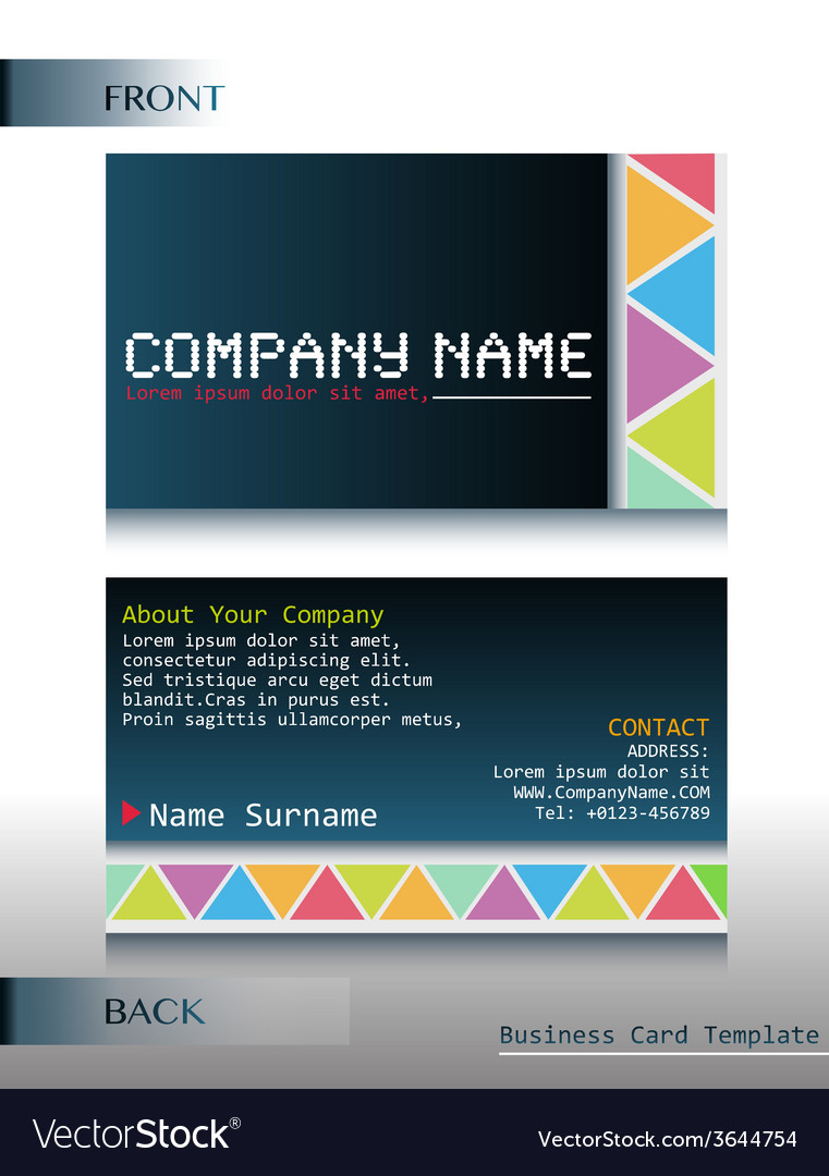 A front and back design of a card vector | Price: 1 Credit (USD $1)