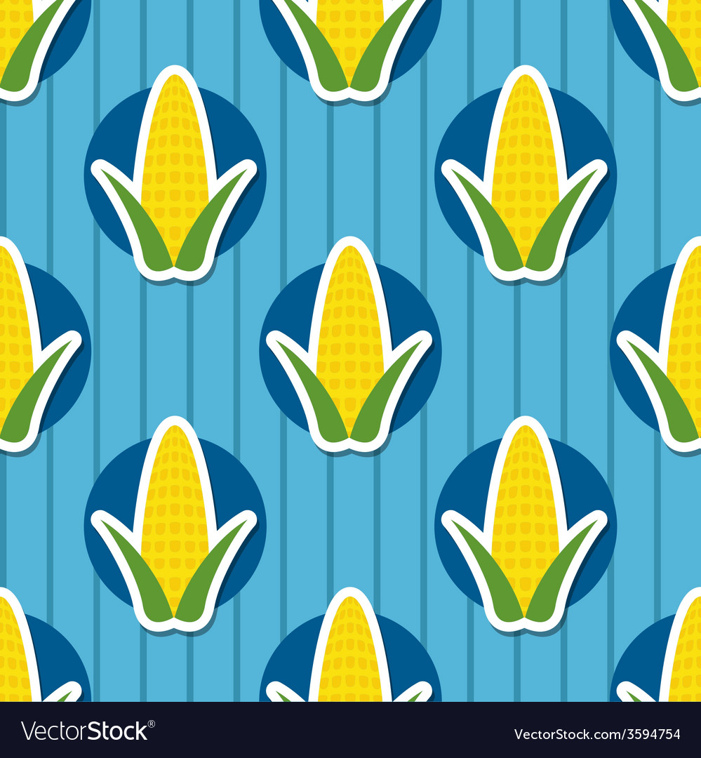 Corn pattern seamless texture vector | Price: 1 Credit (USD $1)