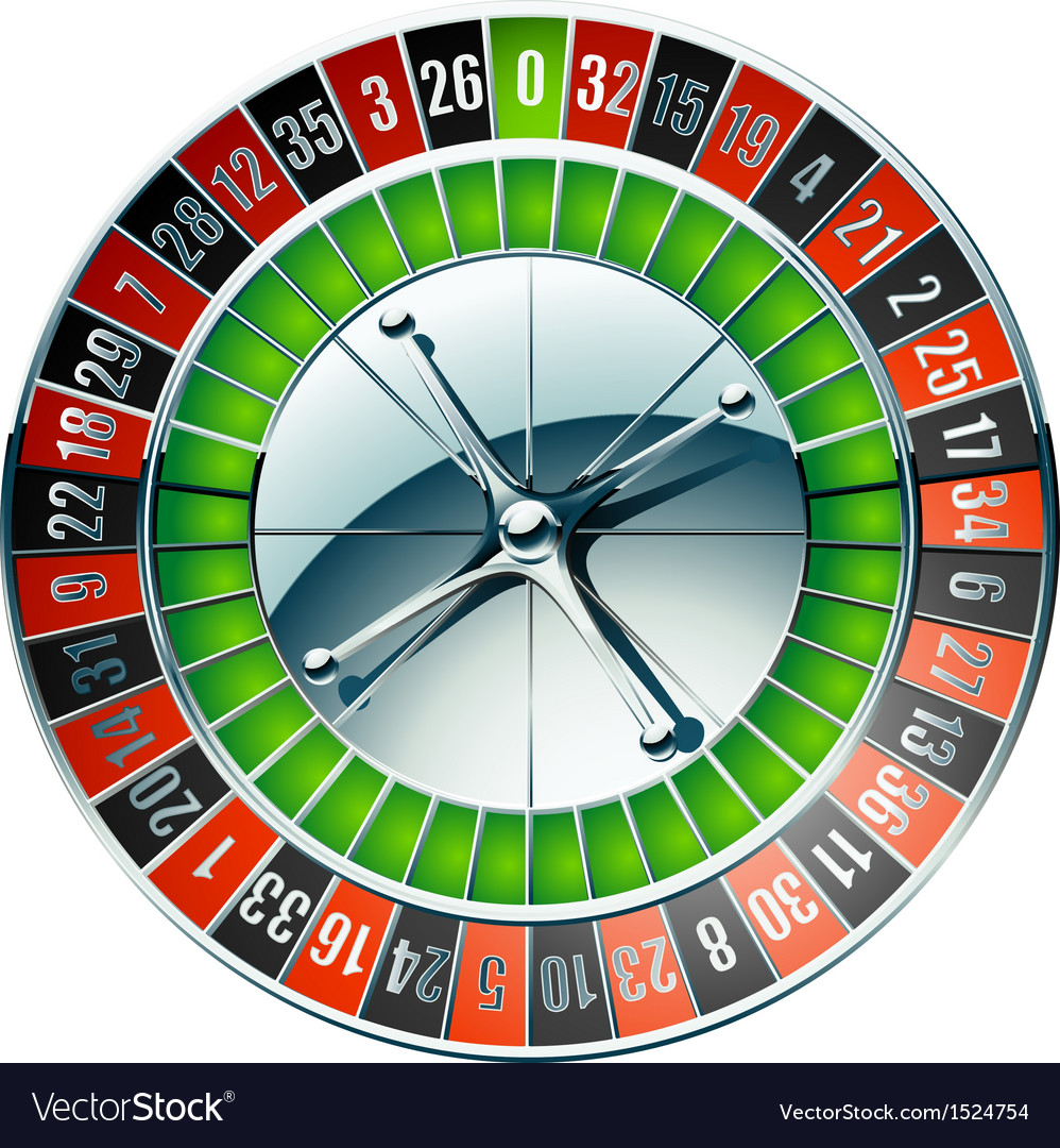 Detailed casino roulette wheel vector | Price: 1 Credit (USD $1)