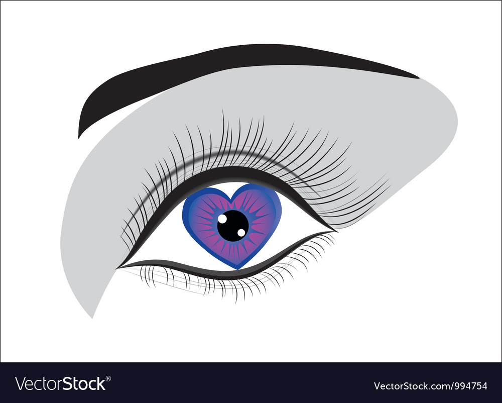 Eye heart vector | Price: 1 Credit (USD $1)