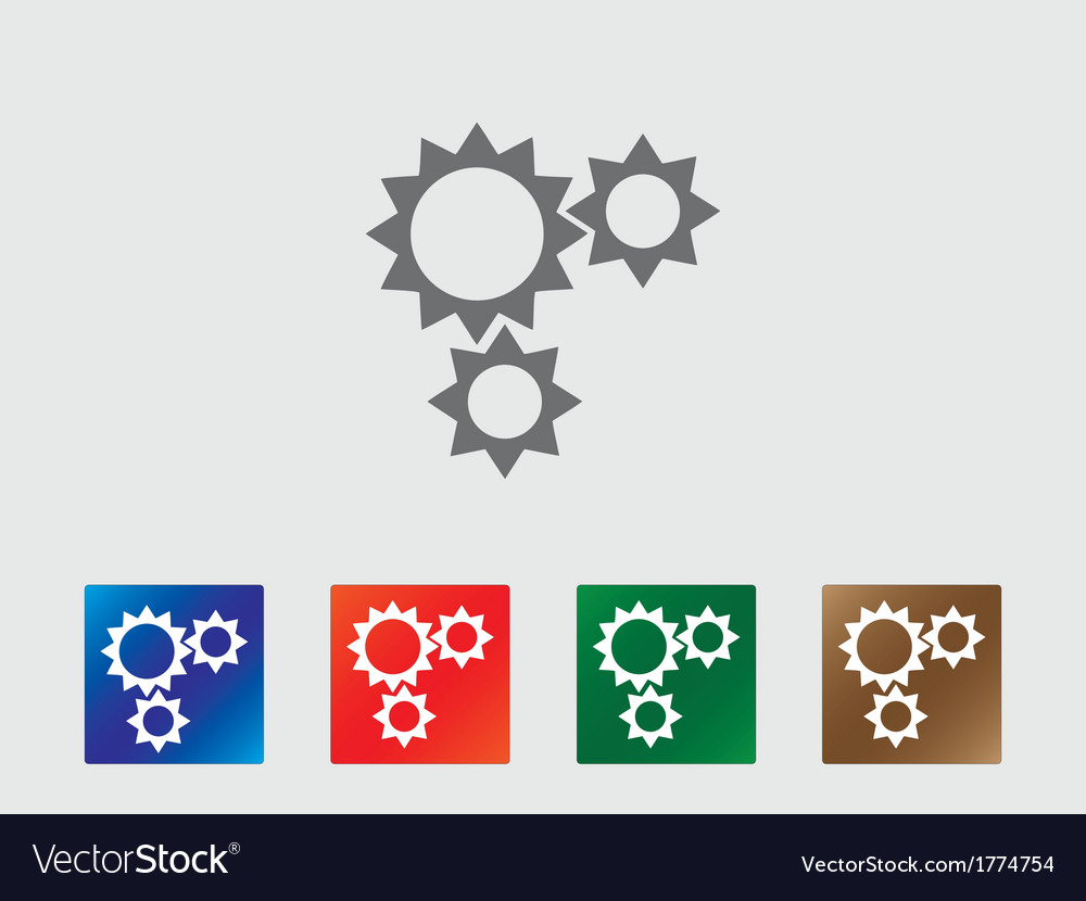Gear wheels icons vector | Price: 1 Credit (USD $1)