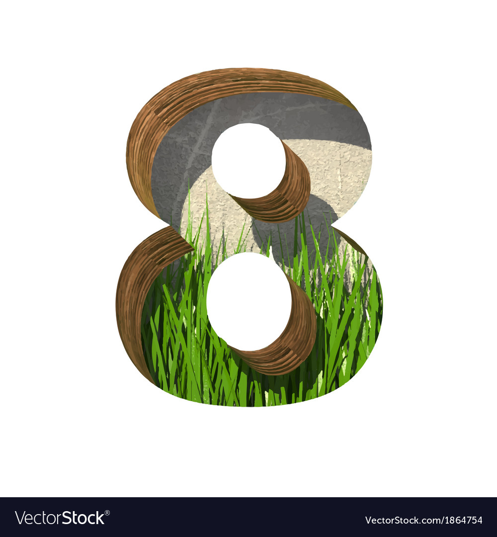 Grass cutted figure 8 paste to any background vector | Price: 1 Credit (USD $1)