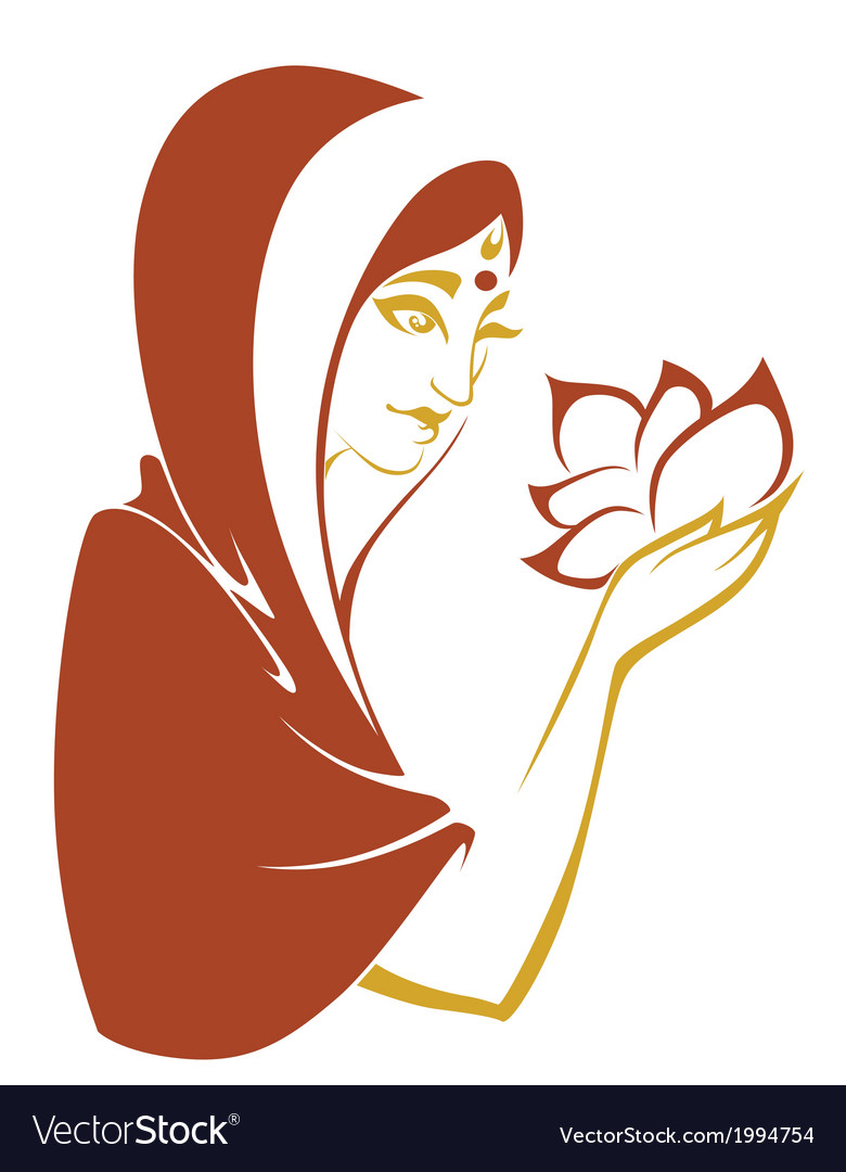 Indian beauty vector | Price: 1 Credit (USD $1)