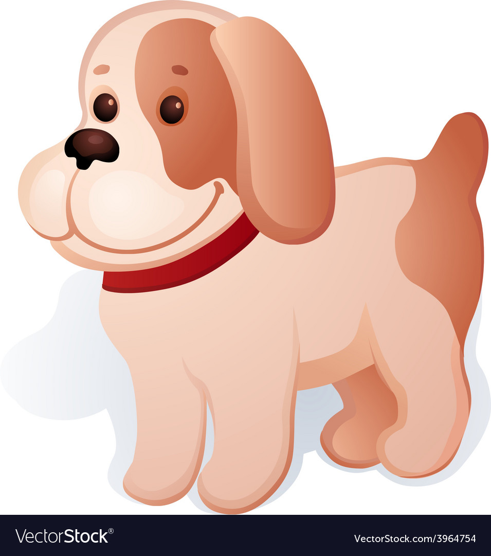 Plush puppy vector | Price: 1 Credit (USD $1)