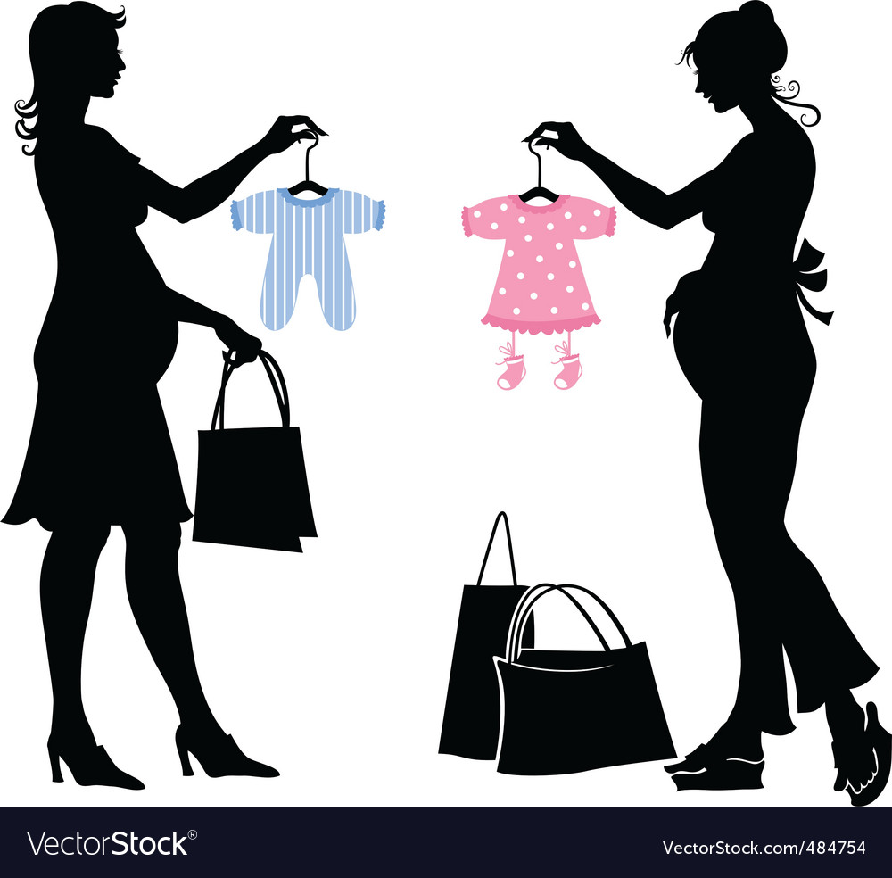 Pregnant women vector | Price: 1 Credit (USD $1)