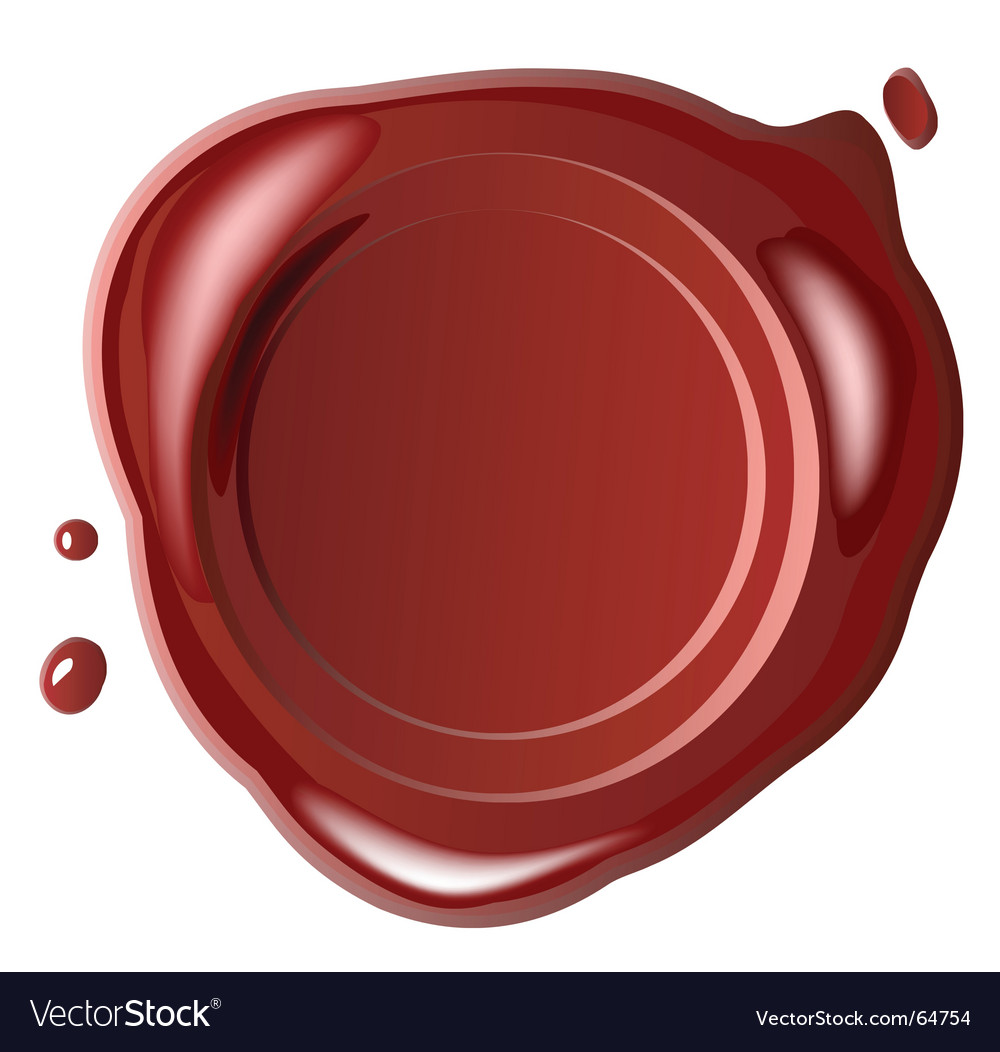 Red wax seal vector | Price: 1 Credit (USD $1)