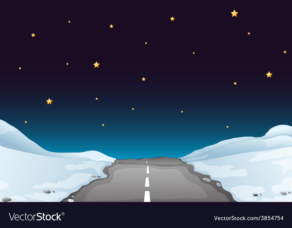 Road at night vector