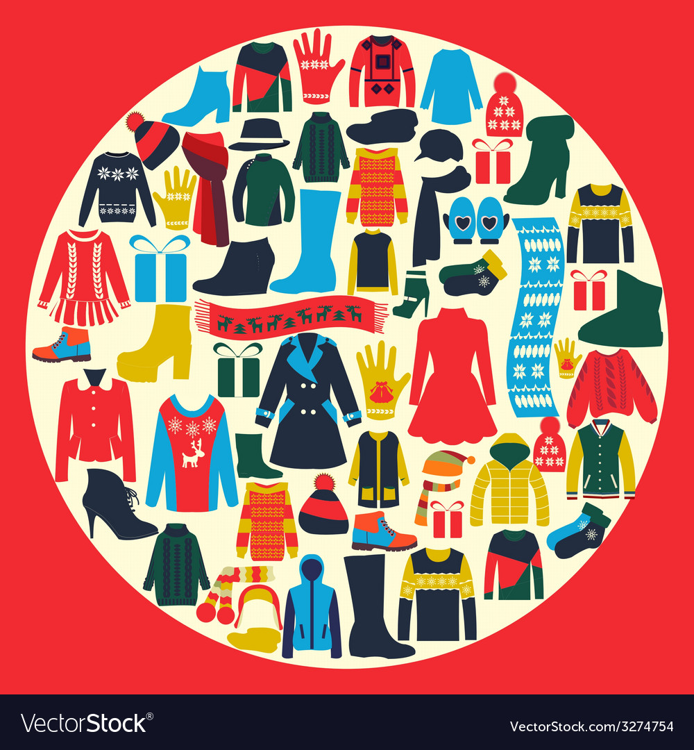 Set of womens and mens clothing vector | Price: 1 Credit (USD $1)