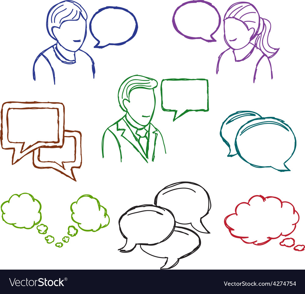 Speech and communication icons vector | Price: 1 Credit (USD $1)
