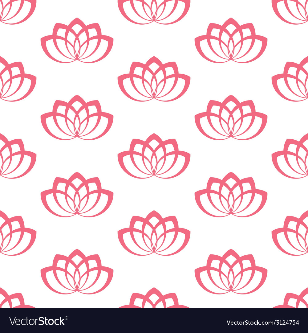 Water lily pattern vector | Price: 1 Credit (USD $1)
