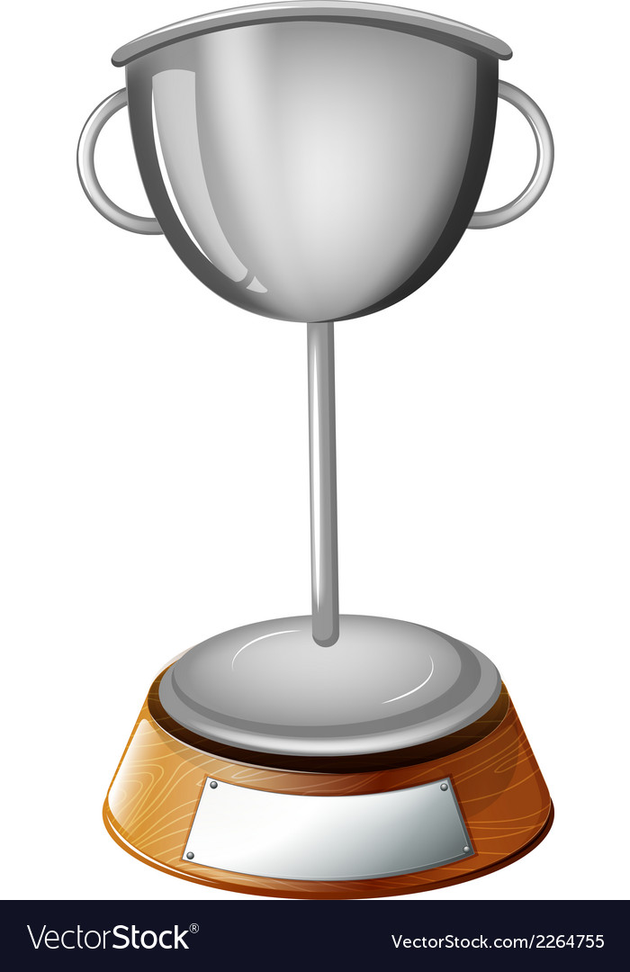 A gray cup trophy vector | Price: 1 Credit (USD $1)