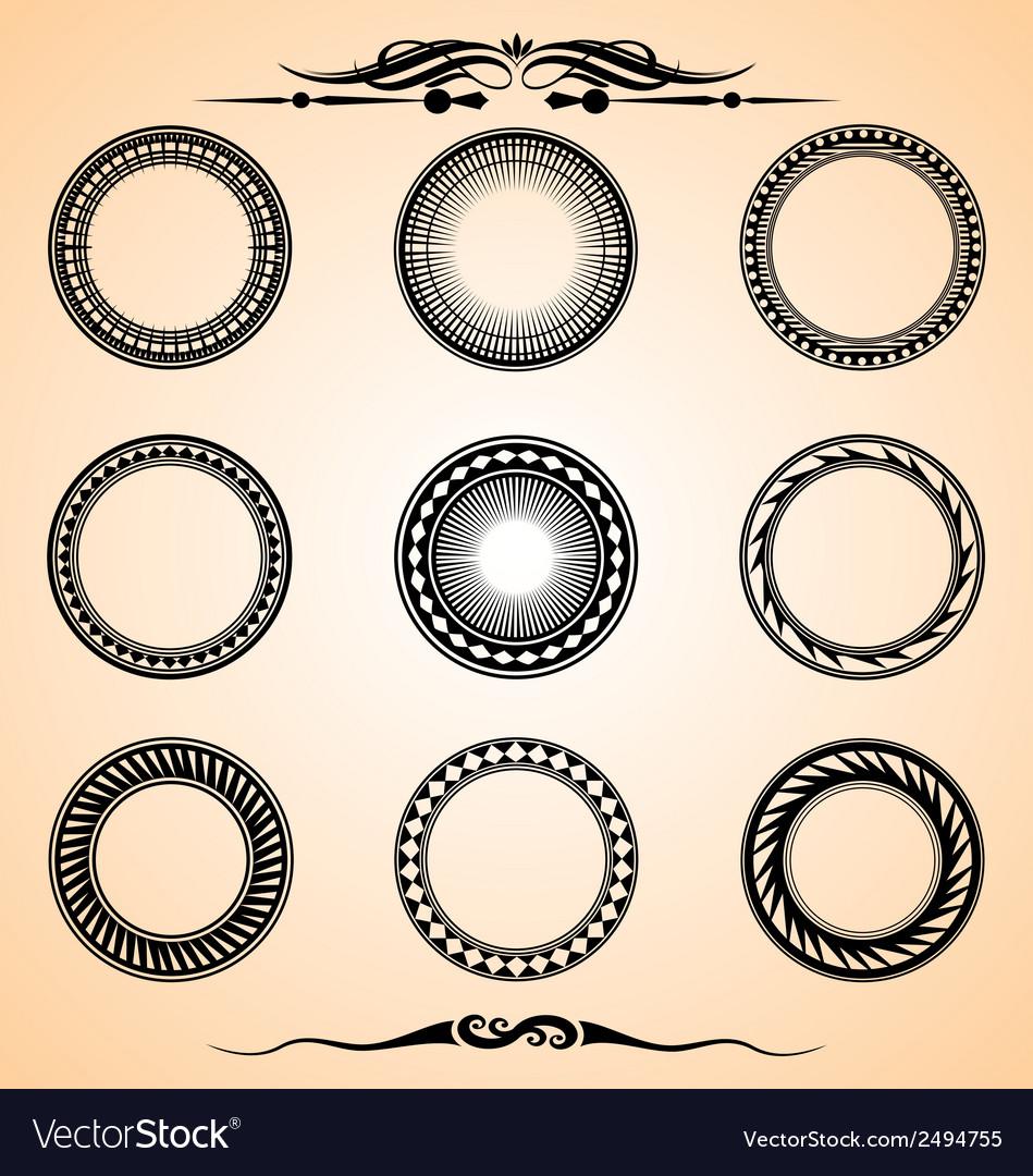 Artistic circle set vector | Price: 1 Credit (USD $1)