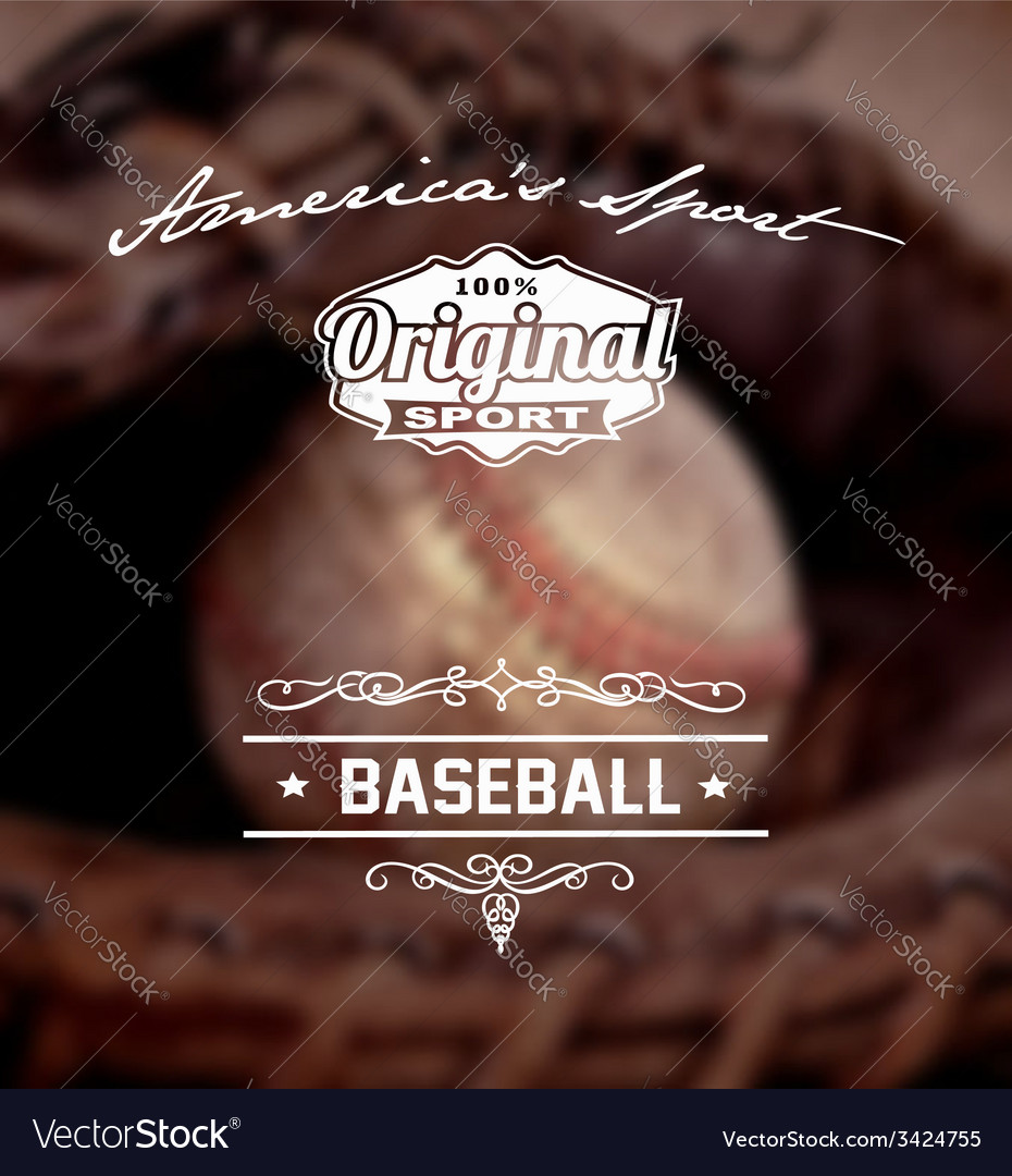 Baseball original sport vector | Price: 1 Credit (USD $1)