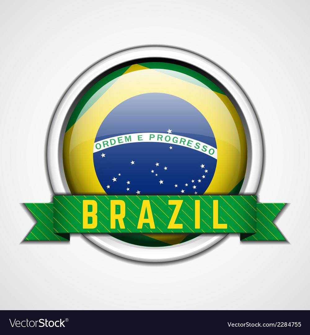 Brazil badge vector | Price: 1 Credit (USD $1)