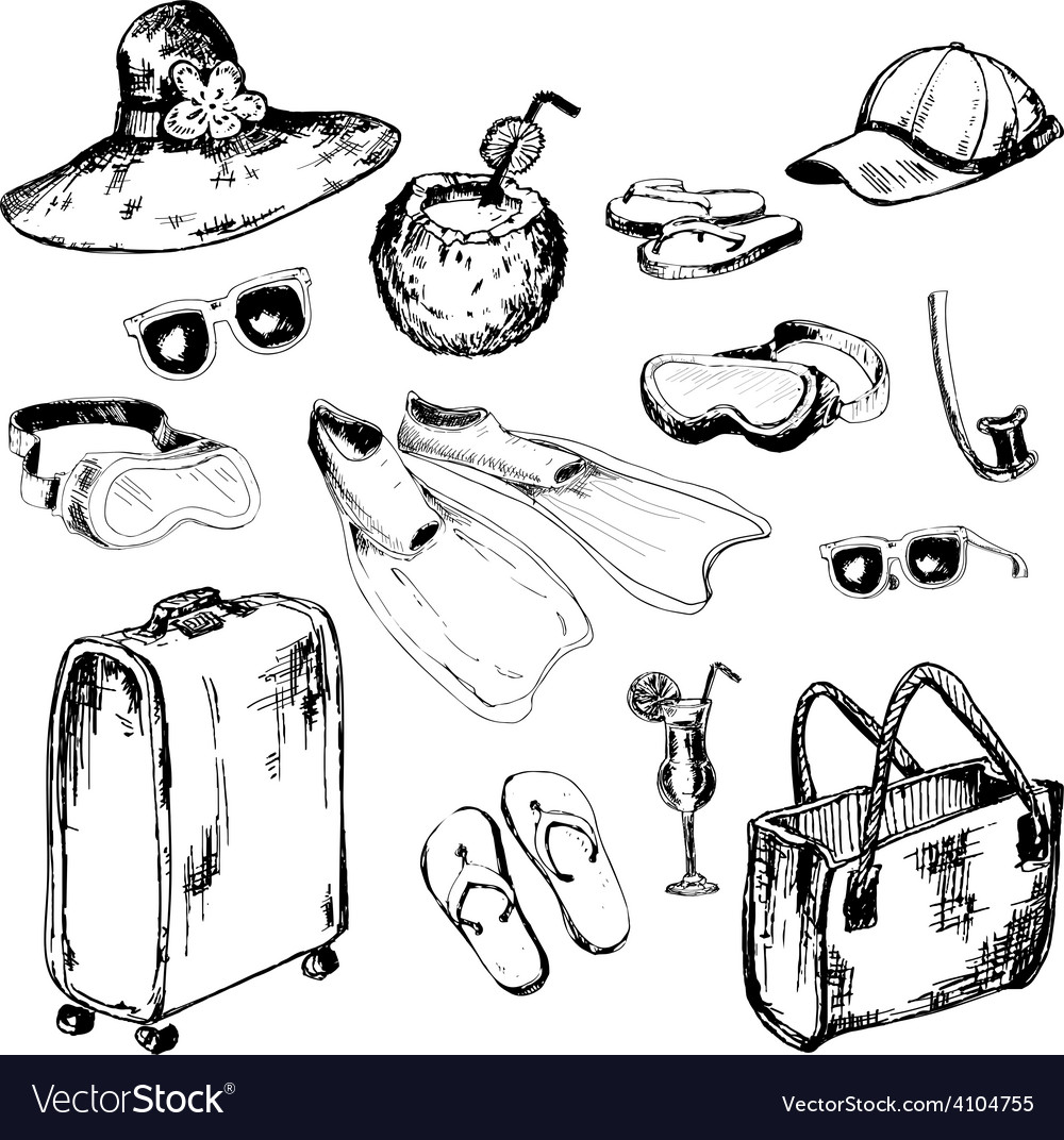 Collection of accessories for holidays vector | Price: 1 Credit (USD $1)