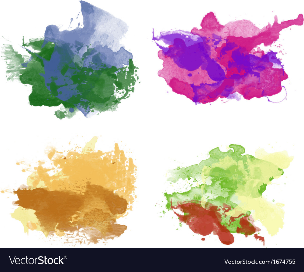 Colorful watercolor backgrounds vector | Price: 1 Credit (USD $1)