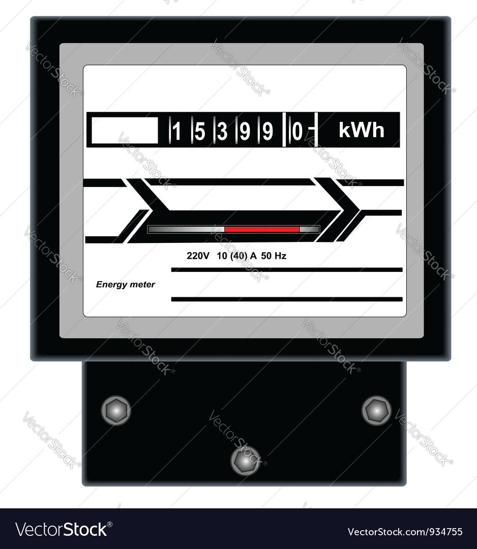 Energy meter vector | Price: 1 Credit (USD $1)