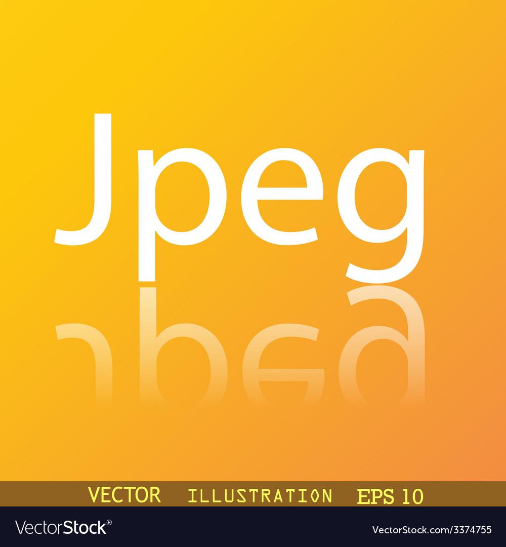 File jpg icon symbol flat modern web design with vector   Price: 1 Credit (USD $1)