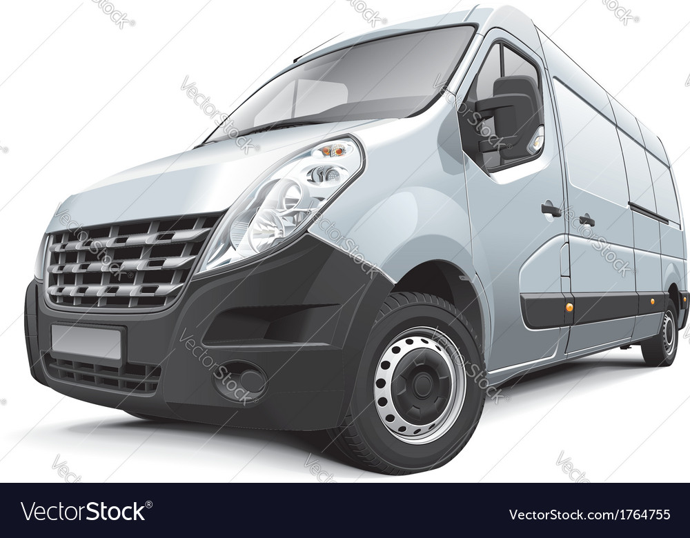 French medium size van vector | Price: 3 Credit (USD $3)