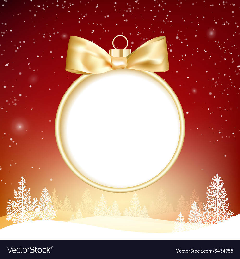 Golden christmas ball vector | Price: 1 Credit (USD $1)