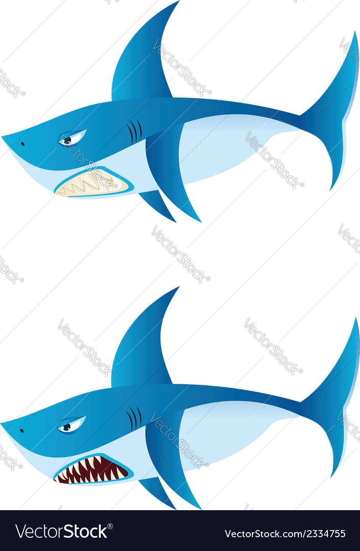 Great white shark2 vector | Price: 1 Credit (USD $1)