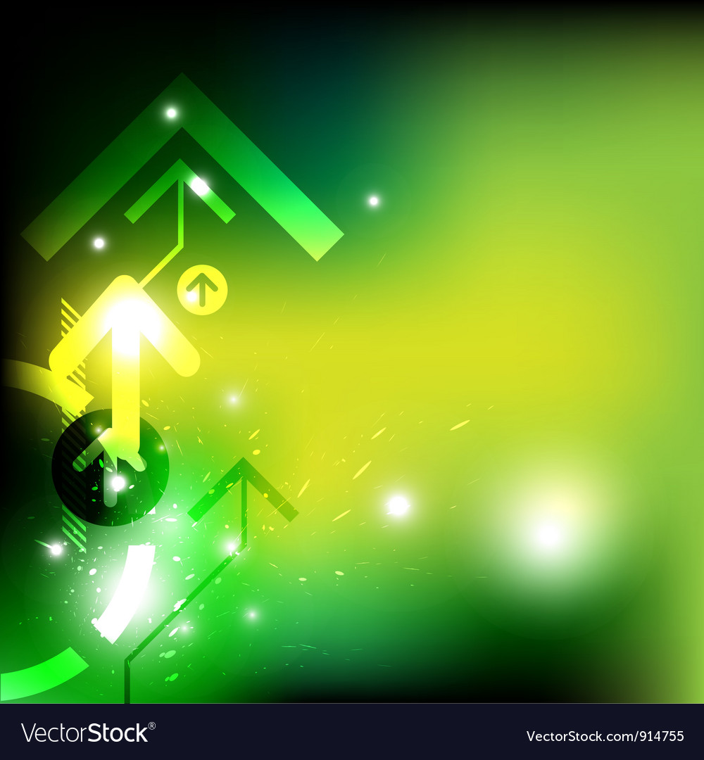Green arrow abstract design vector | Price: 1 Credit (USD $1)