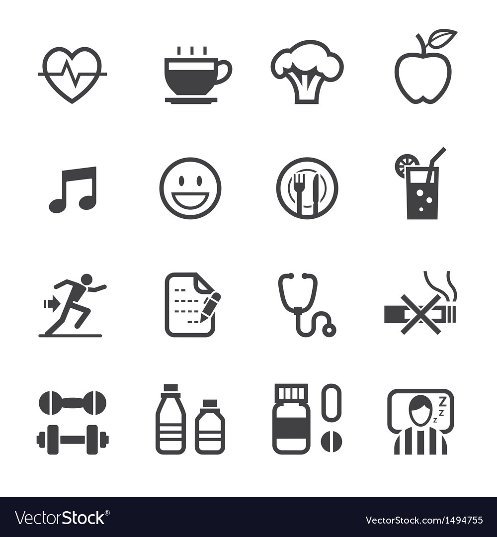 Health and wellness icons vector | Price: 1 Credit (USD $1)