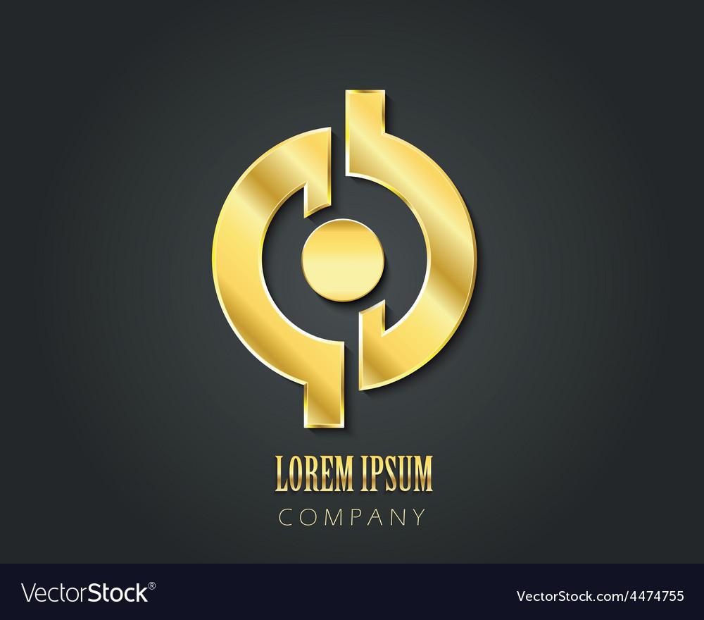 Logo design template golden symbol vector | Price: 1 Credit (USD $1)