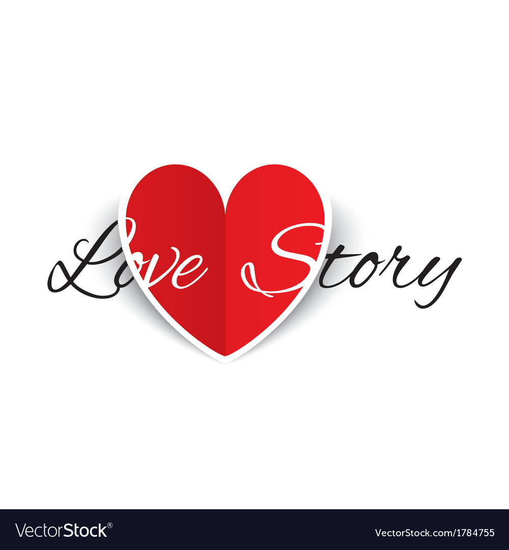 Love story paper heart sign valentines day card vector   Price: 1 Credit (USD $1)