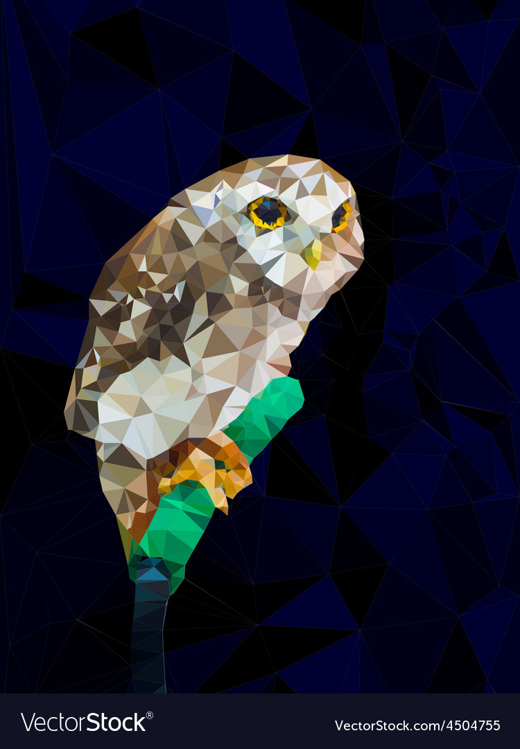 Low poly design geometric of owl vector | Price: 1 Credit (USD $1)