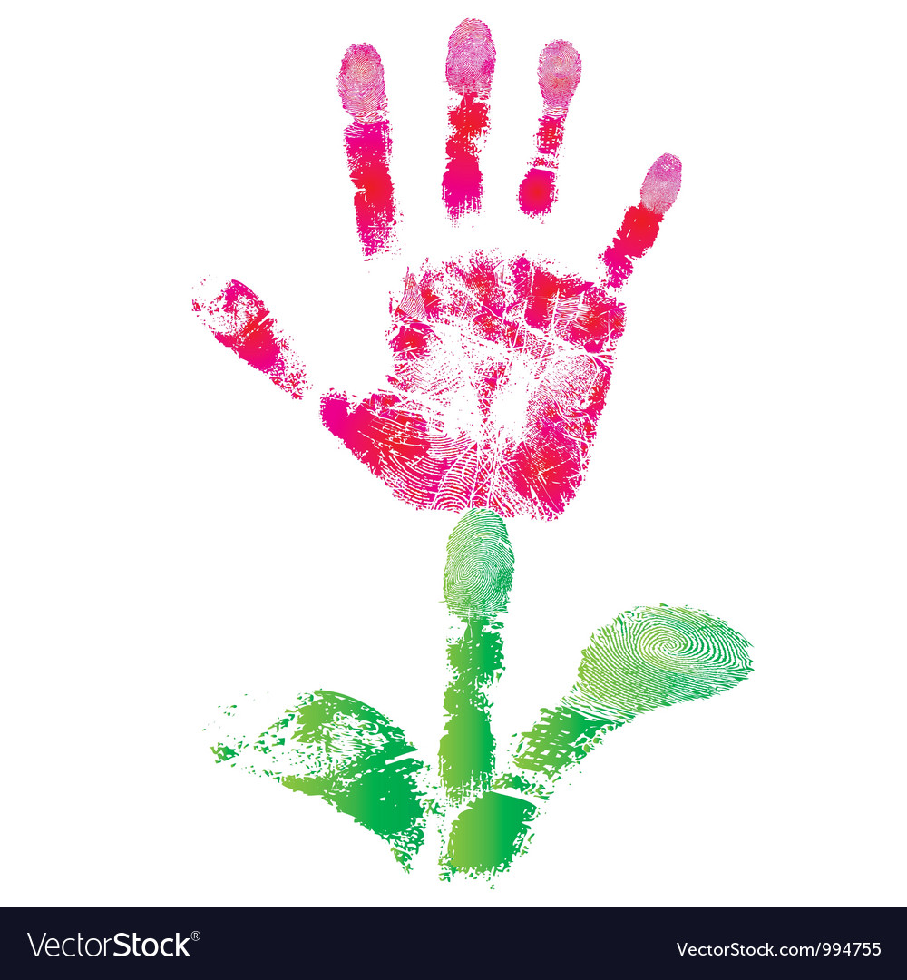 Print palm flower vector | Price: 1 Credit (USD $1)