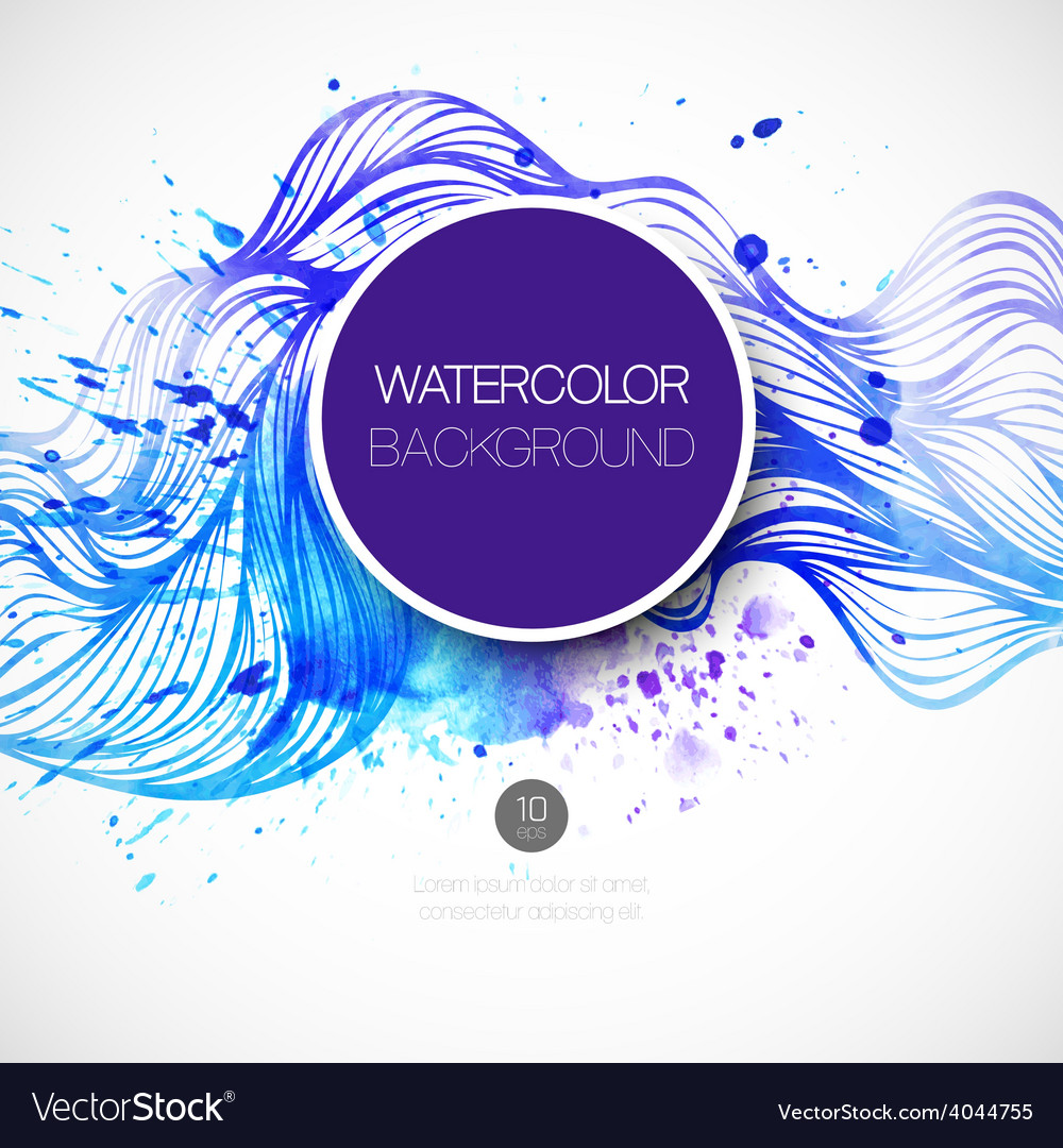 Watercolor wave background vector | Price: 1 Credit (USD $1)