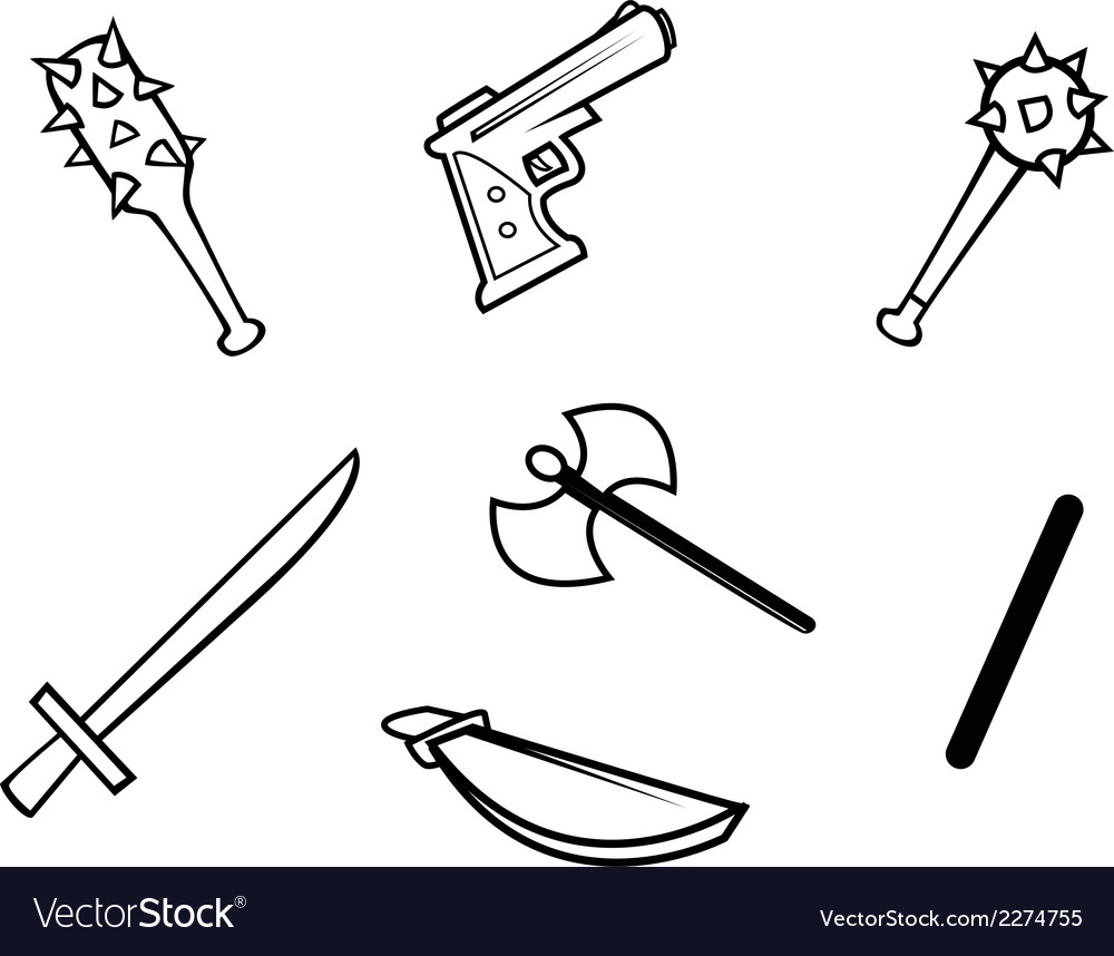 Weapons bw vector | Price: 1 Credit (USD $1)