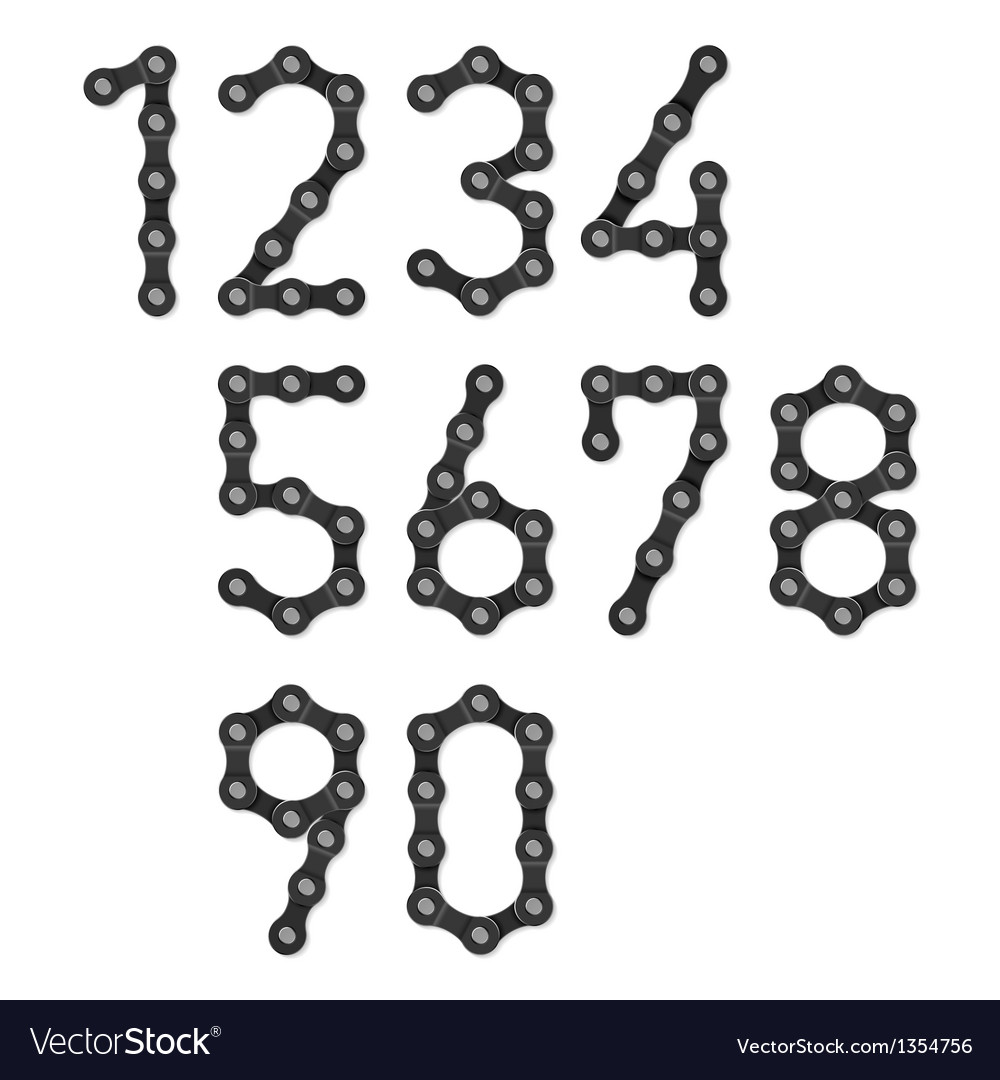 Bicycle chain numbers vector | Price: 3 Credit (USD $3)
