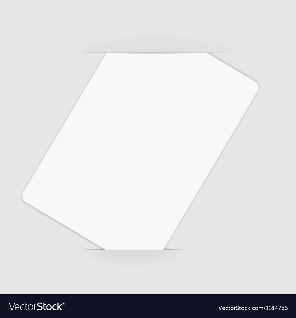 Blank paper vector | Price: 1 Credit (USD $1)