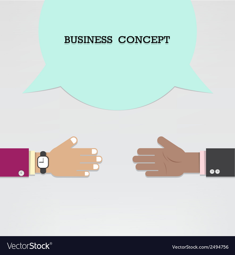 Businessman hands with speech bubble vector | Price: 1 Credit (USD $1)