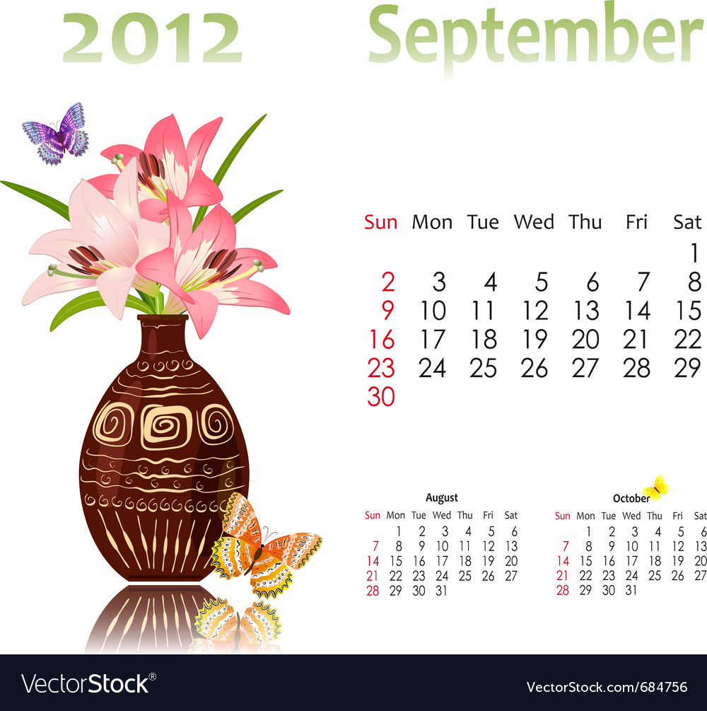 Calendar 2012 with baskets vector | Price: 1 Credit (USD $1)