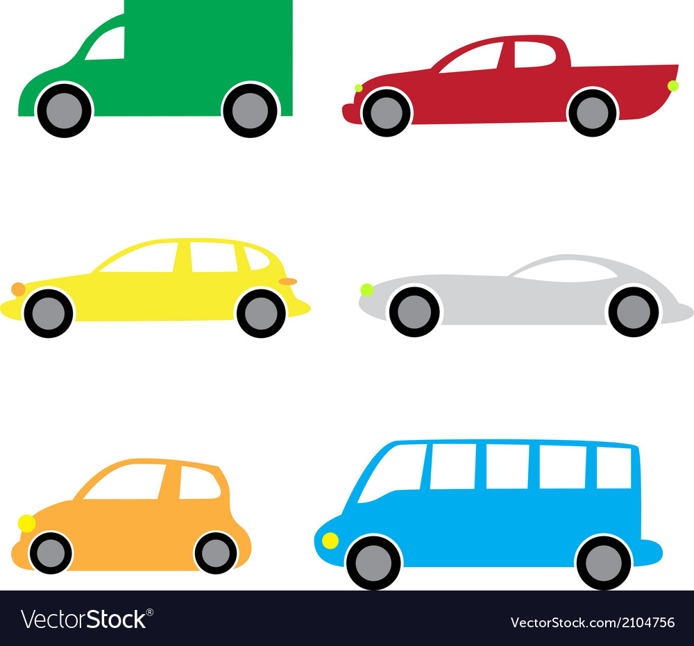 Cartoon cars 2 vector | Price: 1 Credit (USD $1)