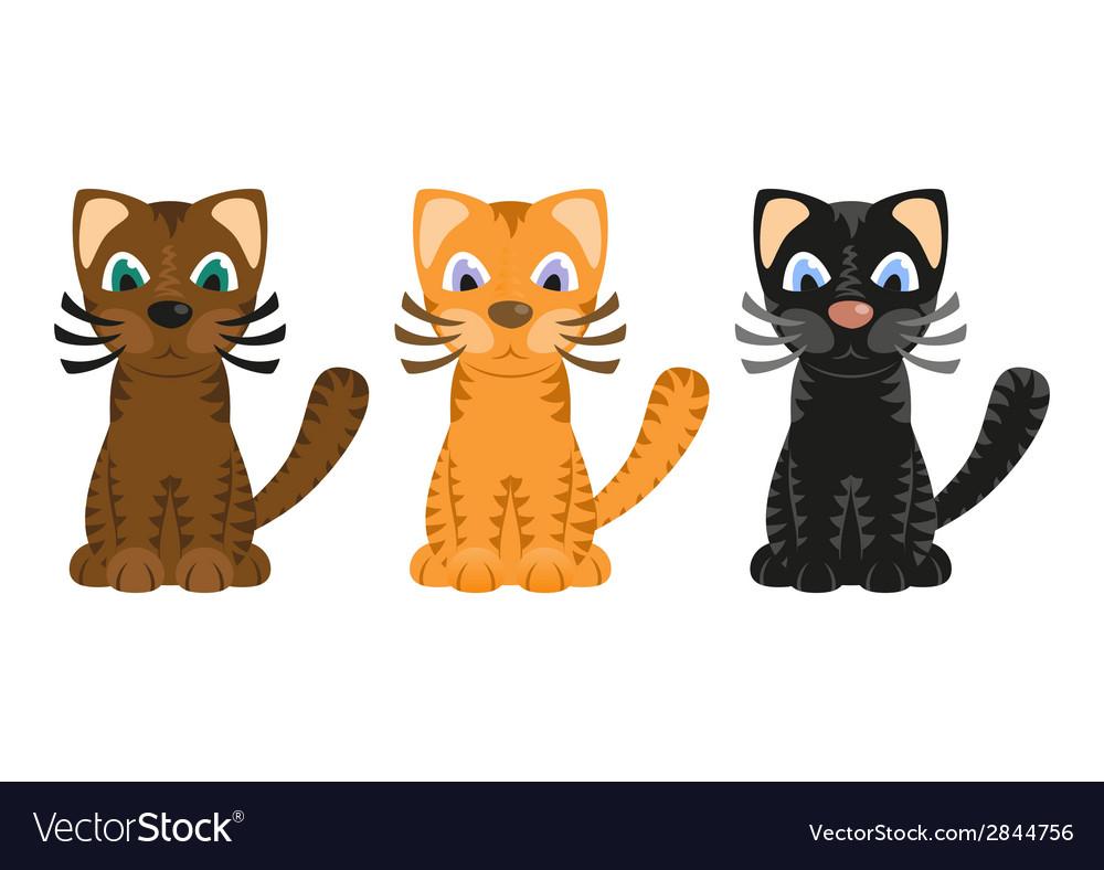 Cartoon tiger cats vector | Price: 1 Credit (USD $1)