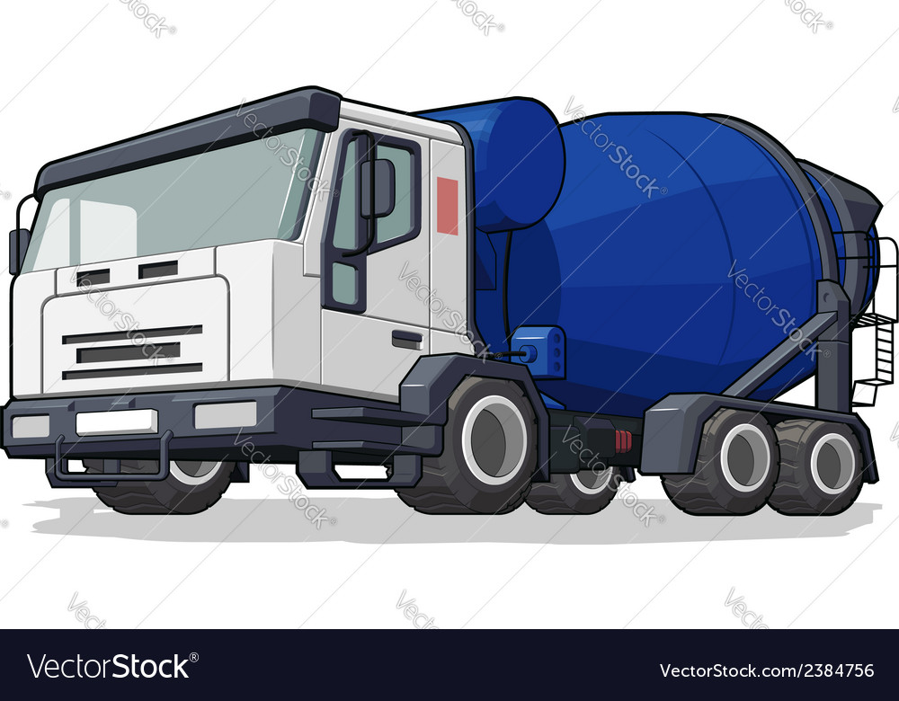 Cement mixer truck vector | Price: 1 Credit (USD $1)