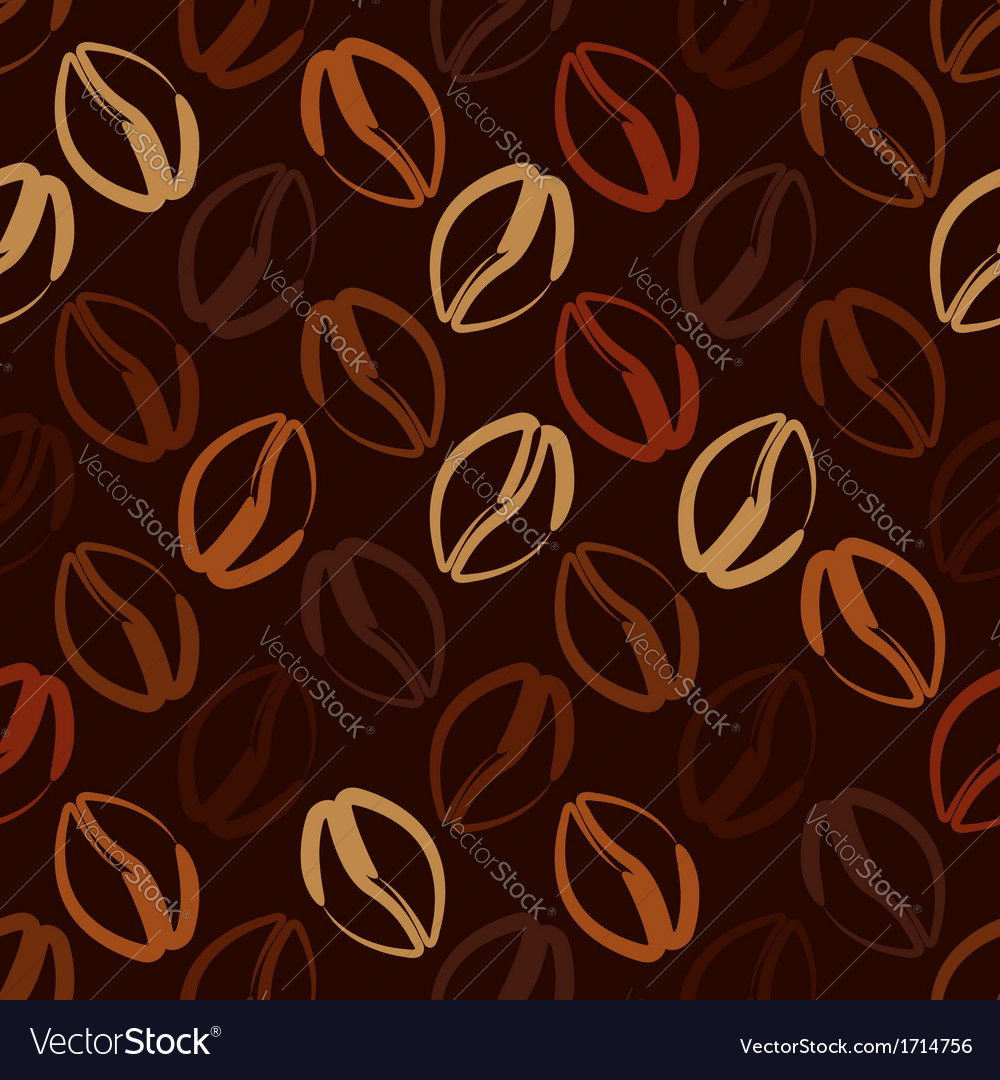 Coffee beans seamless pattern vector | Price: 1 Credit (USD $1)