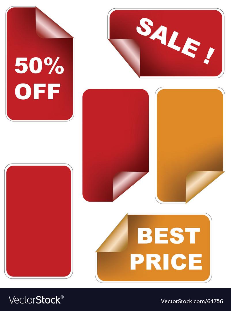 Color sale sticker set vector | Price: 1 Credit (USD $1)