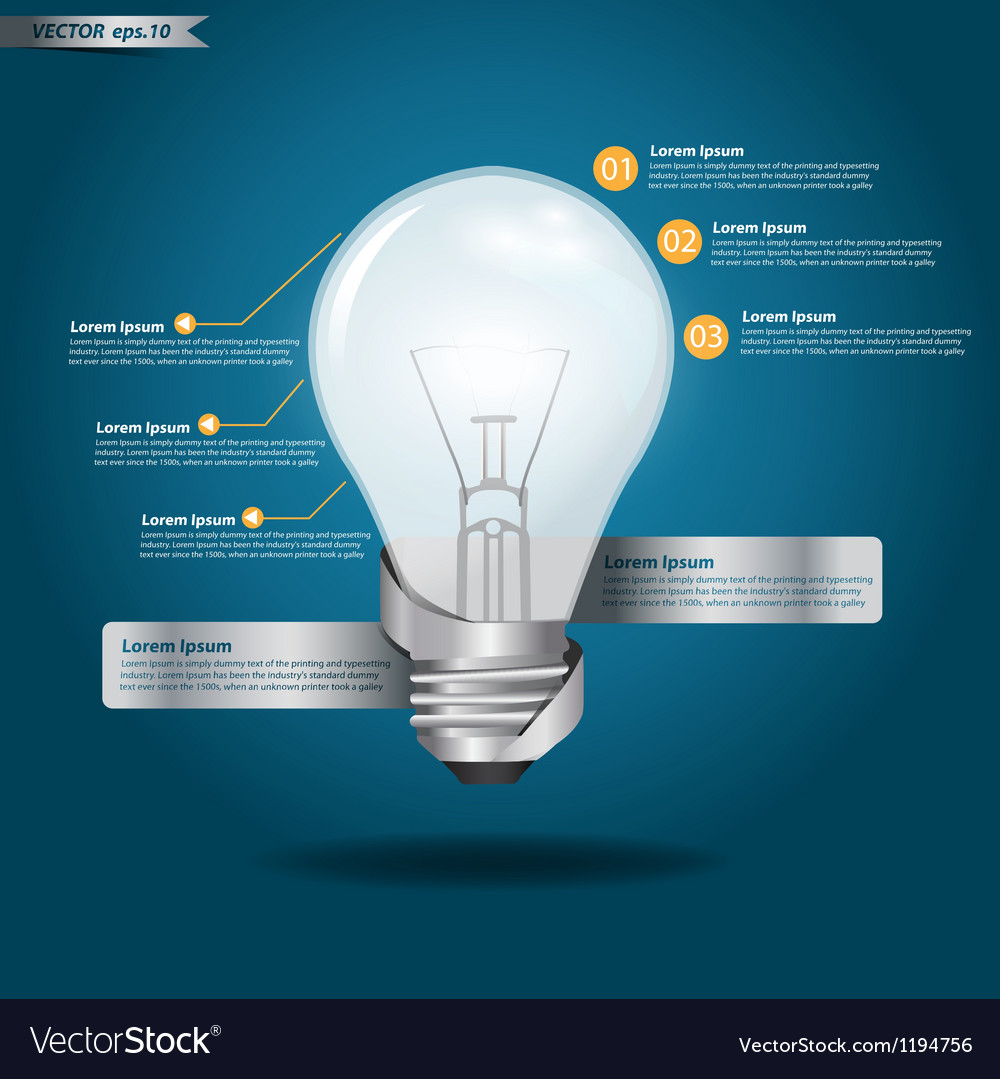 Creative template with light bulb vector   Price: 1 Credit (USD $1)
