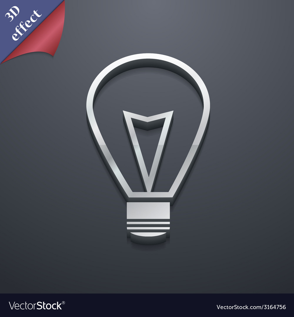 Light lamp icon symbol 3d style trendy modern vector | Price: 1 Credit (USD $1)