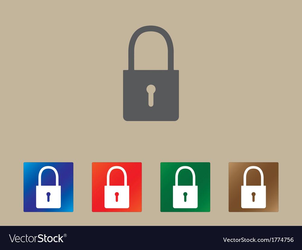 Lock icons vector | Price: 1 Credit (USD $1)
