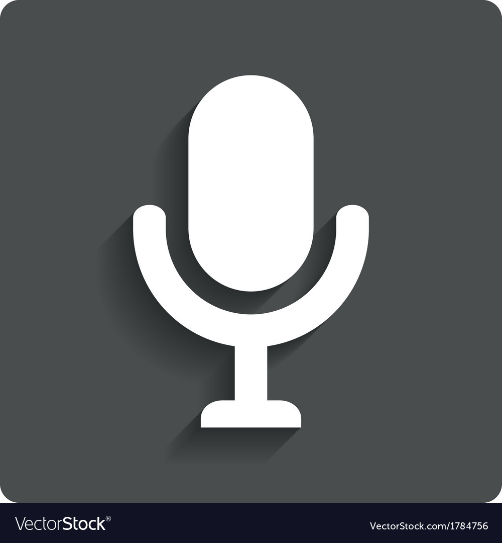 Microphone icon speaker symbol live music vector | Price: 1 Credit (USD $1)