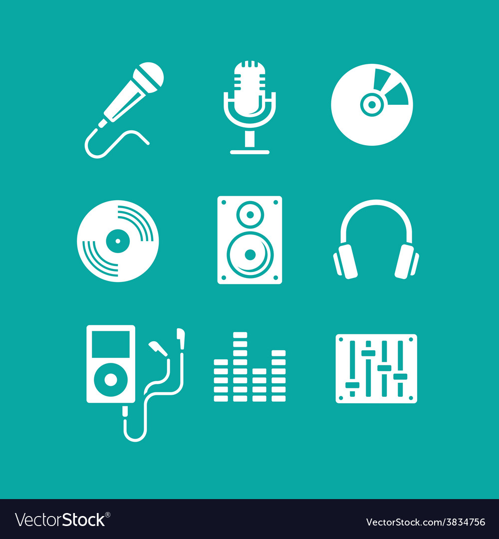 Music icons for app vector | Price: 1 Credit (USD $1)