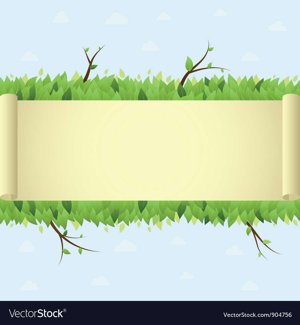 Summer background with scroll vector | Price: 1 Credit (USD $1)