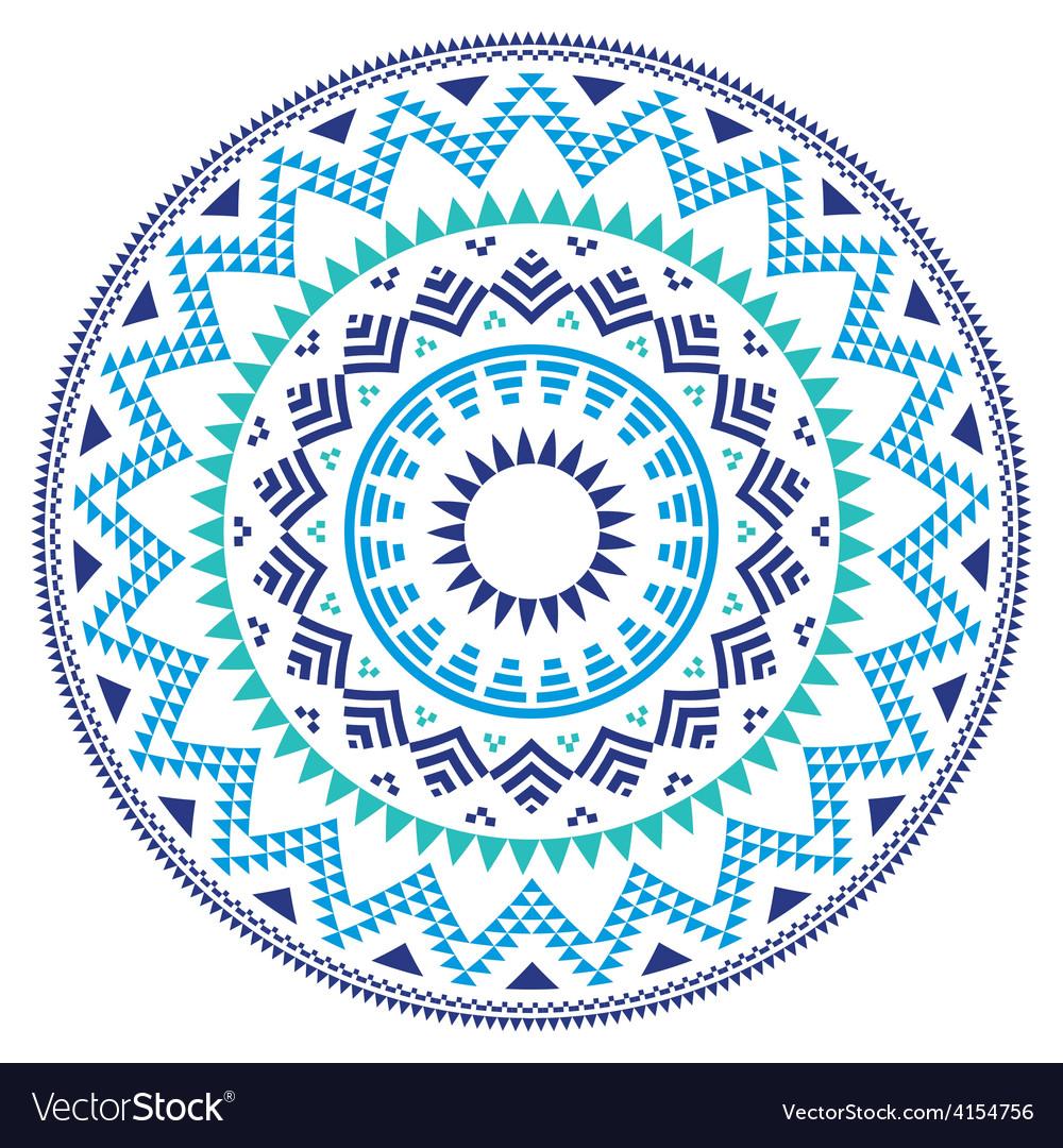 Tribal folk aztec geometric pattern in circle vector | Price: 1 Credit (USD $1)