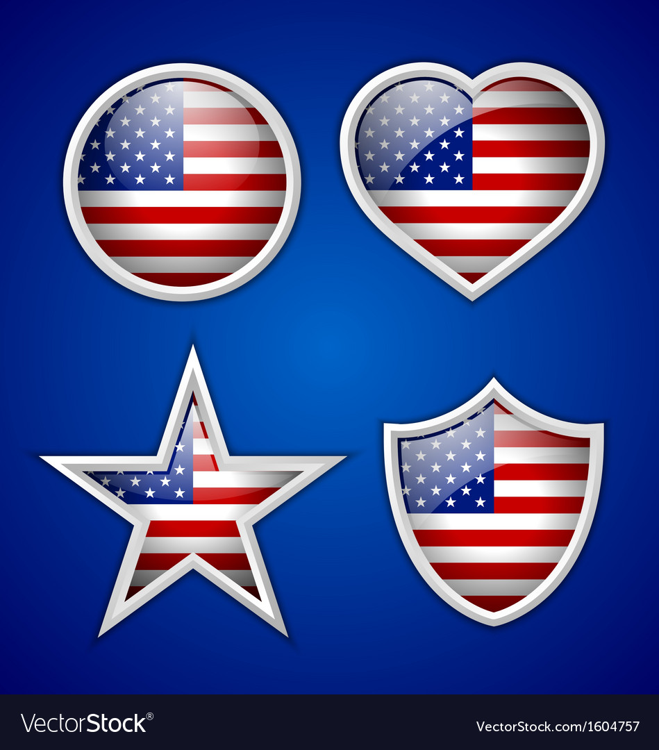 American badges vector | Price: 1 Credit (USD $1)